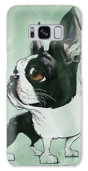 Boston Terrier - Green  Galaxy Case