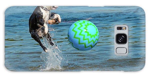 Boston Terrier High Jump Galaxy Case