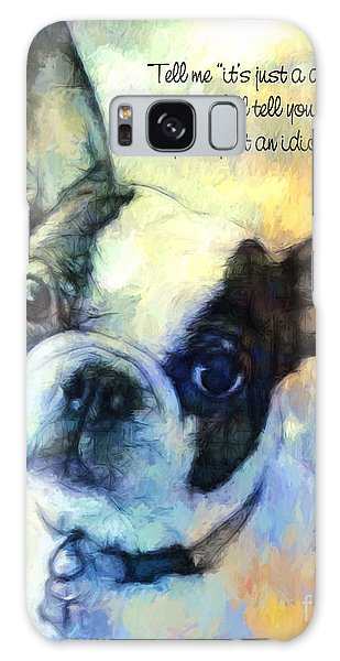 Boston Terrier Idiot Galaxy Case