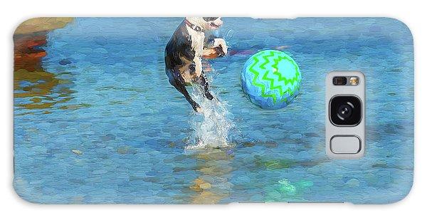 Boston Terrier Jump - Painterly Galaxy Case