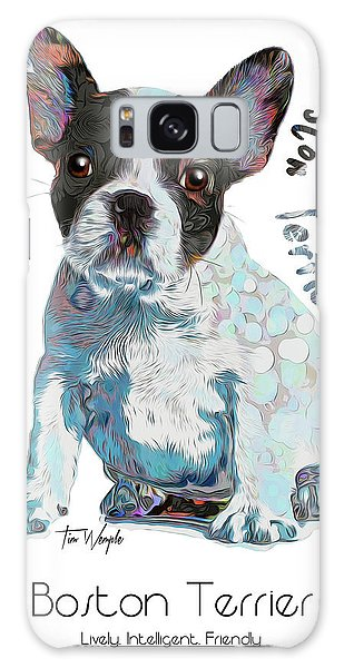 Boston Terrier Pop Art Galaxy Case