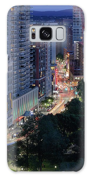 Galaxy Case featuring the photograph Boston Tremont St by Michael Hubley