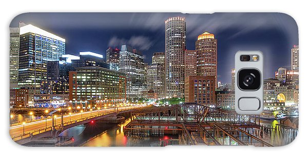 Boston's Skyline At Night Galaxy Case