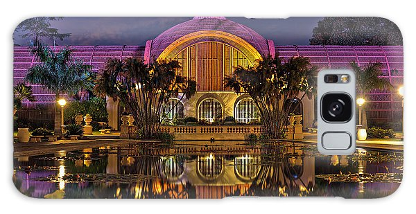 Botanical Building At Night In Balboa Park Galaxy Case by Sam Antonio Photography
