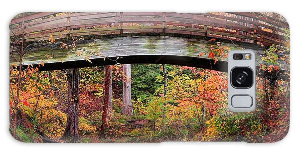 Botanical Gardens Arched Bridge Asheville During Fall Galaxy Case