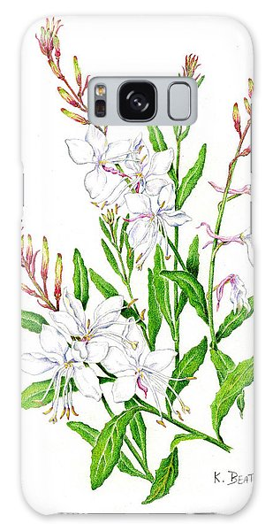Botanical Illustration Floral Painting Galaxy Case