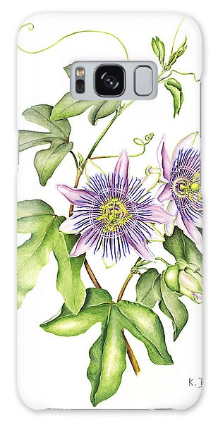 Botanical Illustration Passion Flower Galaxy Case
