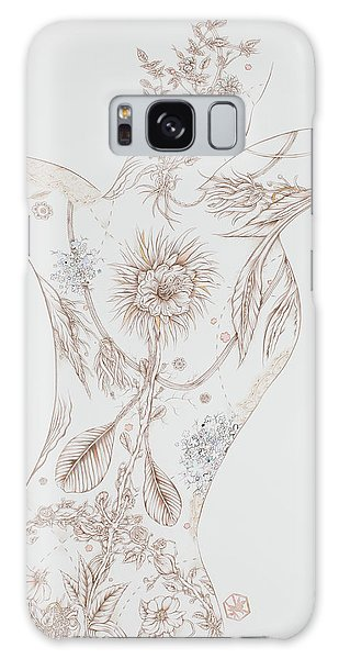 Botanicalia Claire Galaxy Case by Karen Robey