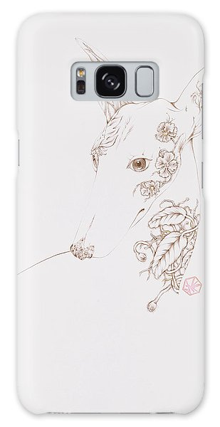 Botanicalia Greyhound Galaxy Case by Karen Robey