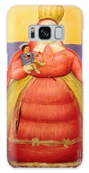 Botero Woman And Child Galaxy Case by Ted Pollard