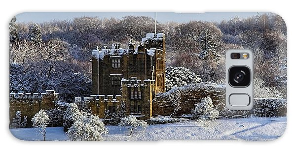 Bothal Castle In Winter Galaxy Case