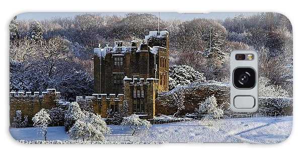 Bothal Castle In Winter Galaxy Case by Les Bell