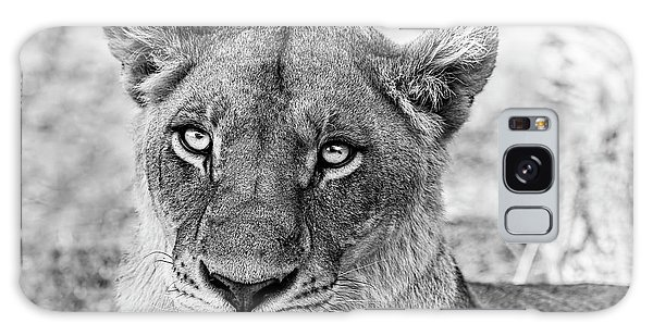 Botswana  Lioness In Black And White Galaxy Case