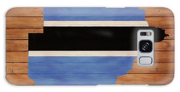 Traveler Galaxy Case - Botswana Rustic Map On Wood by Dan Sproul