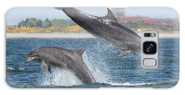 Galaxy Case featuring the photograph Bottlenose Dolphin - Moray Firth Scotland #48 by Karen Van Der Zijden
