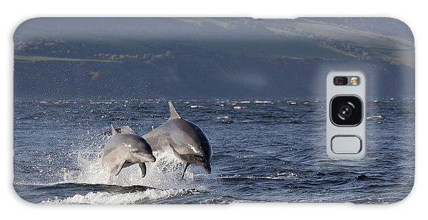 Bottlenose Dolphins Leaping - Scotland  #37 Galaxy Case
