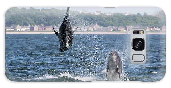 Galaxy Case featuring the photograph Bottlenose Dolphins - Moray Firth Scotland #46 by Karen Van Der Zijden