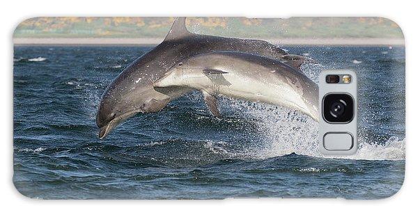 Galaxy Case featuring the photograph Bottlenose Dolphins - Moray Firth Scotland #47 by Karen Van Der Zijden