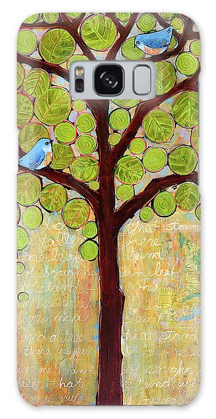 Bluebird Galaxy Case - Boughs In Leaf Tree by Blenda Studio