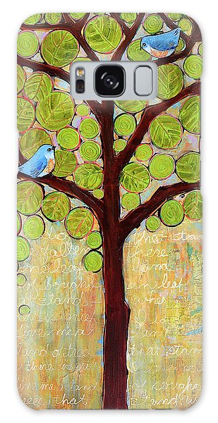 Bluebird Galaxy Case - Boughs In Leaf Tree by Blenda Studio