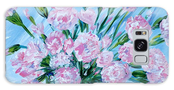 Bouguet Of Carnations.  Joyful Gift. Thank You Collection Galaxy Case