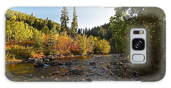Boulder Colorado Canyon Creek Fall Foliage Galaxy Case