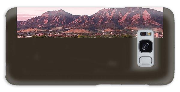 Boulder Colorado Flatirons 1st Light Panorama Galaxy Case