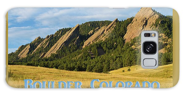 Galaxy Case featuring the photograph Boulder Colorado Poster 1 by James BO Insogna