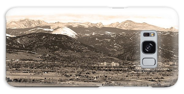 Boulder Colorado Sepia Panorama Poster Print Galaxy Case