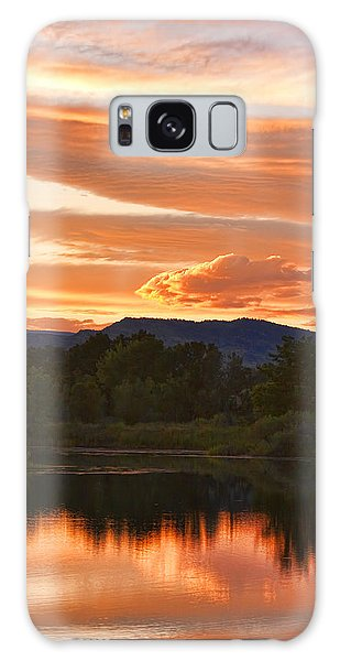Boulder County Lake Sunset Vertical Image 06.26.2010 Galaxy Case