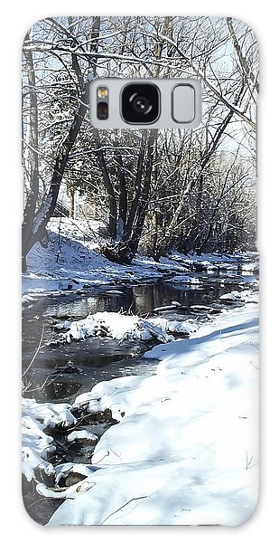 Boulder Creek After A Snowstorm Galaxy Case