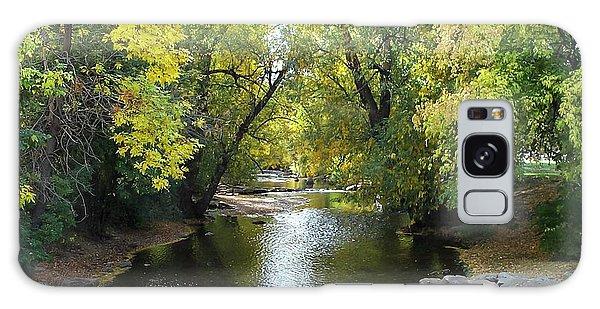 Boulder Creek Tumbling Through Early Fall Foliage Galaxy Case