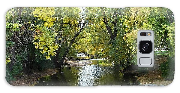 Boulder Creek Tumbling Through Early Fall Foliage Galaxy Case