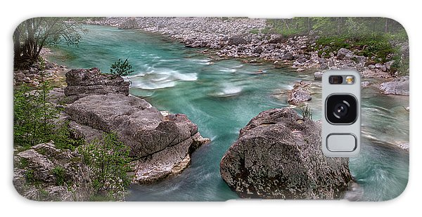 Galaxy Case featuring the photograph Boulder In The River - Slovenia by Stuart Litoff