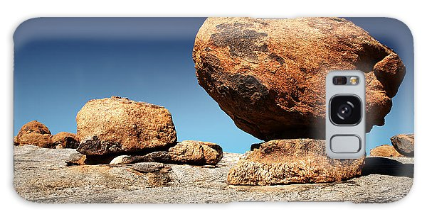 Round Galaxy Case - Boulder On Solid Rock by Johan Swanepoel