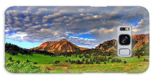 Boulder Spring Wildflowers Galaxy Case