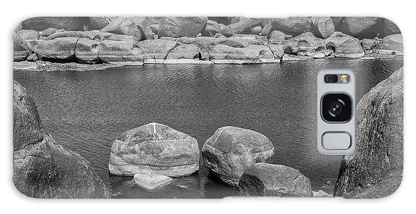 Galaxy Case featuring the photograph Boulders Of Tungabhadra, Hampi, 2017 by Hitendra SINKAR