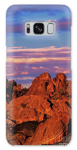 Boulders Sunset Light Pinnacles National Park Californ Galaxy Case