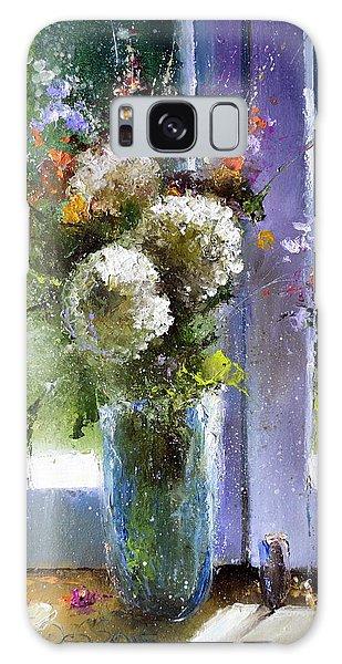 Bouquet At Window Galaxy Case