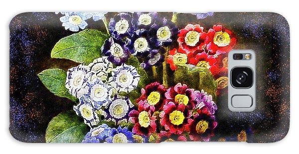 Galaxy Case featuring the digital art Bouquet Of Auriculas Redoute by Joy McKenzie