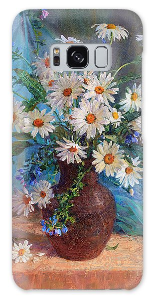 Bouquet Of Daisies In A Vase From Clay Galaxy Case