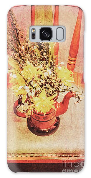 Herbs Galaxy Case - Bouquet Of Dried Flowers In Red Pot by Jorgo Photography - Wall Art Gallery