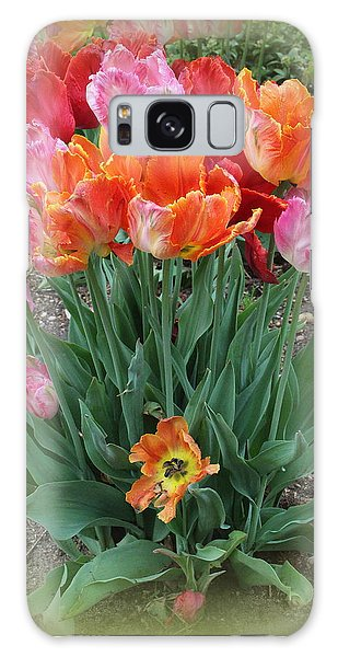 Bouquet Of Colorful Tulips Galaxy Case