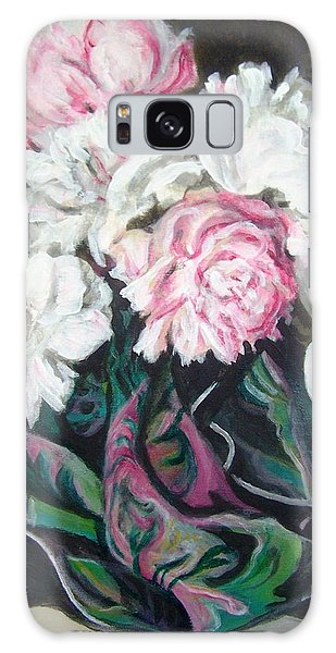 Bouquet Of Peonies Galaxy Case