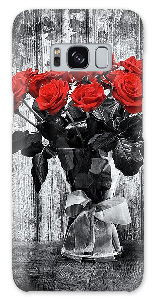 Bouquet Of Roses Galaxy Case by Wim Lanclus