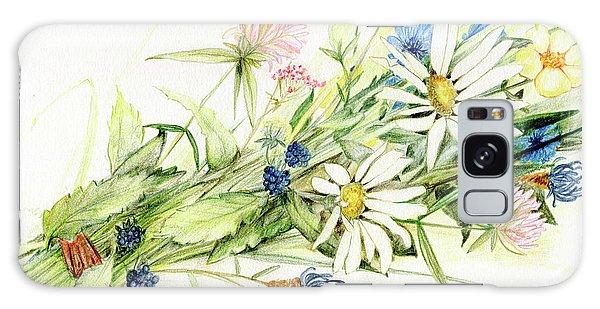 Bouquet Of Wildflowers Galaxy Case