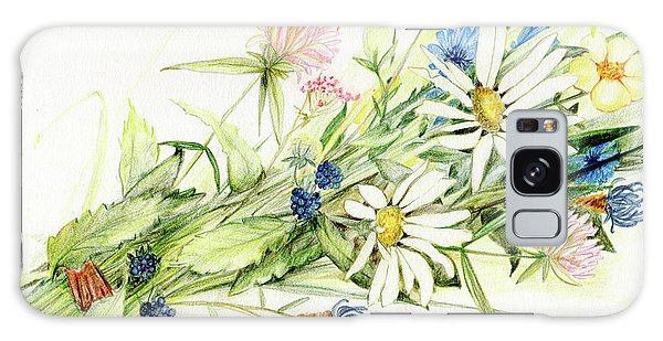 Bouquet Of Wildflowers Galaxy Case