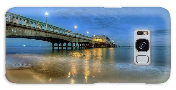 Bournemouth Pier Blue Hour Galaxy Case by Yhun Suarez