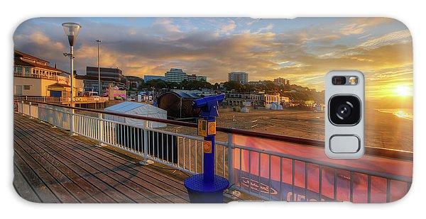 Bournemouth Pier Sunrise Galaxy Case by Yhun Suarez