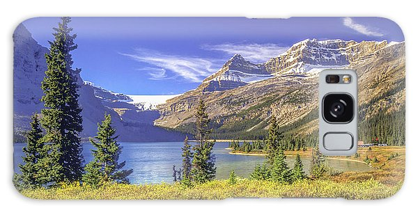Galaxy Case featuring the photograph Bow Lake 2005 01 by Jim Dollar